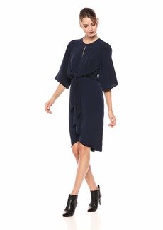 Maggy London Women's Feather Crepe tie Front Dress