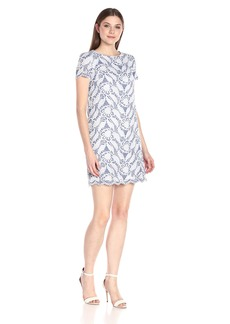 Maggy London Women's Feather Scroll Lace Shift Dress