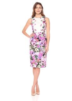 Maggy London Women's Floral Garden Cotton Sheath Dress