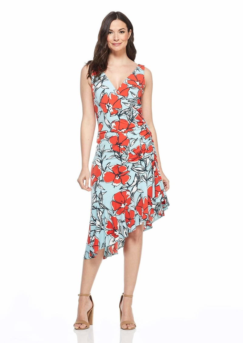 Maggy London Women's Floral Jersey Dress