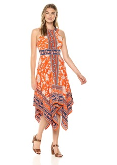 Maggy London Women's Floral Novelty Sleeveless fit and Flare