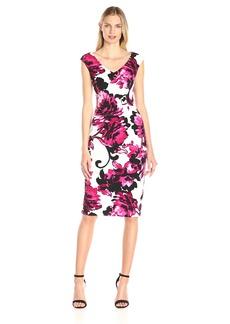 Maggy London Women's Floral Sheath Dress