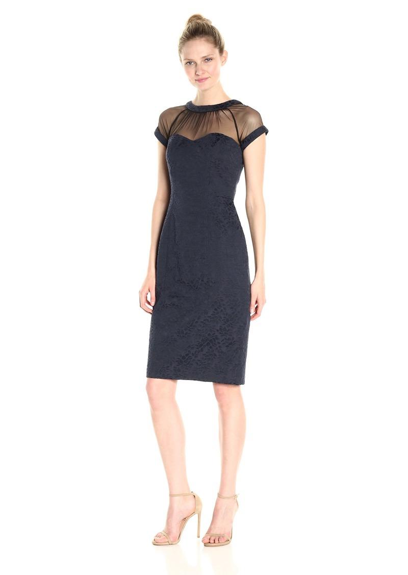 08991437206 Maggy London Maggy London Women s Illusion Cap-Sleeve Crepe Dress ...