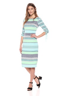Maggy London Women's Jersey Midi Dress with Sleeve