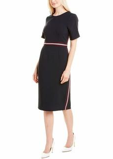 Maggy London Women's Jewel Neck Sheath Crepe Dress