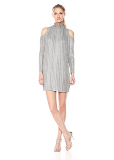 Maggy London Women's Knit Cold Shoulder Trapeze Dress