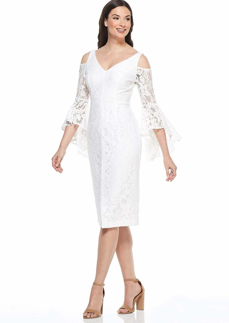 Maggy London Women's Lace Cold Shoulder Cocktail Dress