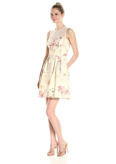 Maggy London Women's Metallic Brocade Fit and Flare