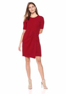 Maggy London Women's Novelty Short Sleeve Sheath red
