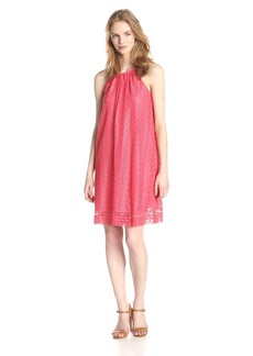 Maggy London Women's Oval Stripe Lace Trapeze Dress