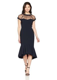 Maggy London Women's Petite Illusion Cocktail Dress  12P