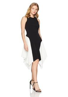 Maggy London Women's Petite Mystic Crepe Sleeveless Color Block Fit and Flare  8P