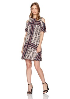 Maggy London Women's Petite Printed Jersey Fit and Flare  14P