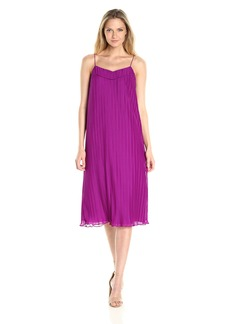 Maggy London Women's Pleated Texture Ankle Length Slip Dress
