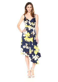 Maggy London Women's Printed Charmeuse Slip Dress