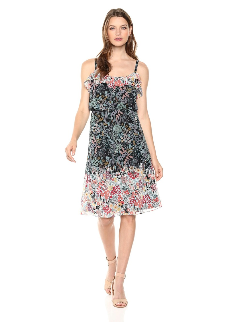 Maggy London Women's Printed Chiffon Cocktail Dress