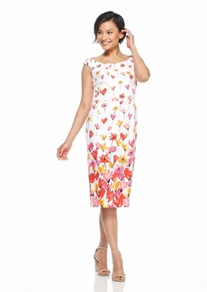 Maggy London Women's Printed Cotton Sheath Dress