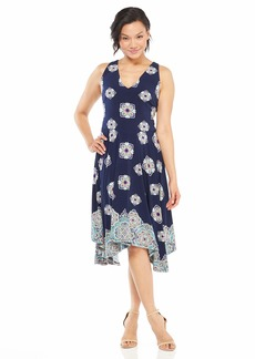 Maggy London Women's Printed Jersey Sleeveless fit and Flare