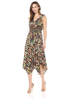 Maggy London Women's Rainbow Ikat Jersey Maxi Dress
