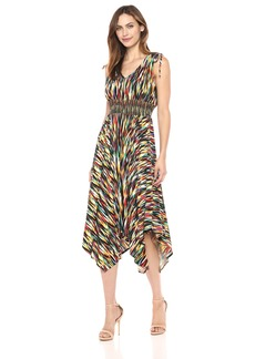 Maggy London Women's Rainbow Ikat Jersey Maxi Dress