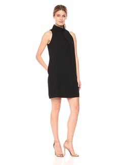 Maggy London Women's Roll Neck Crepe Shift Dress