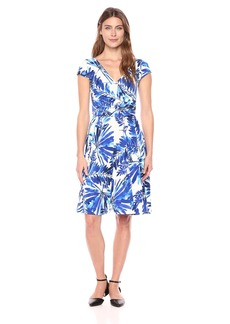 Maggy London Women's Short Sleeve Jersey Wrap Dress