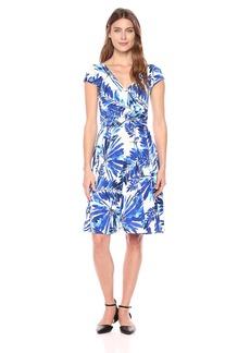 Maggy London Women's Short Sleeve Jersey Wrap Dress