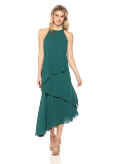 Maggy London Women's Silky Georgette Sleeveless Fly Away Dress