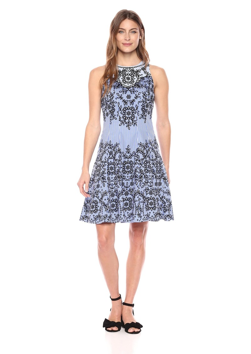 Maggy London Women's Sleeveless Scoop Fit & Flare Dress