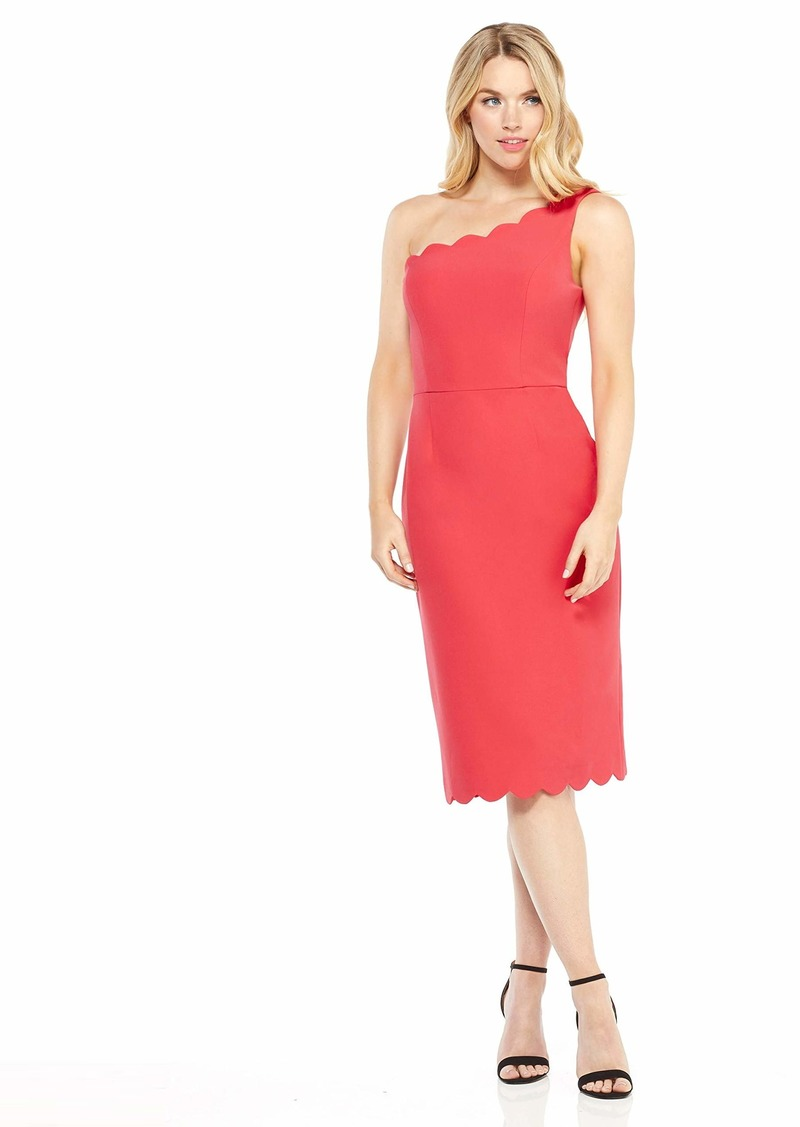 Maggy London Women's Solid Crepe one Shoulder Cocktail Dress