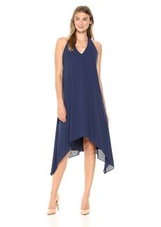Maggy London Women's Solid Silky Georgette Sleeveless Dress