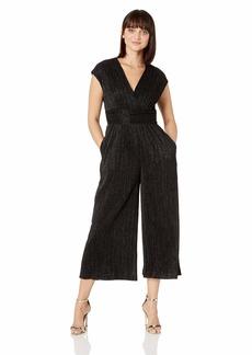 Maggy London Women's Sparkle Pleat Novelty Jumpsuit Black