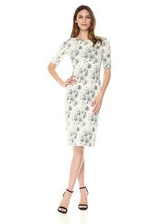 Maggy London Women's Tapestry Jacquard Sheath Dress