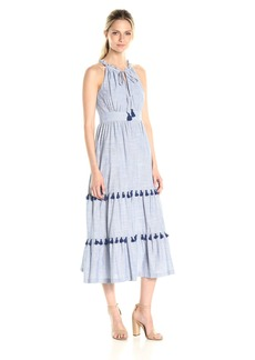 Maggy London Women's Thick and Thin Tiered Halter Dress