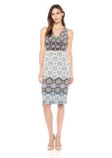 Maggy London Women's Tile Stripe Jersey Midi Dress