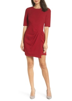 Maggy London Wrap Front Sheath Dress