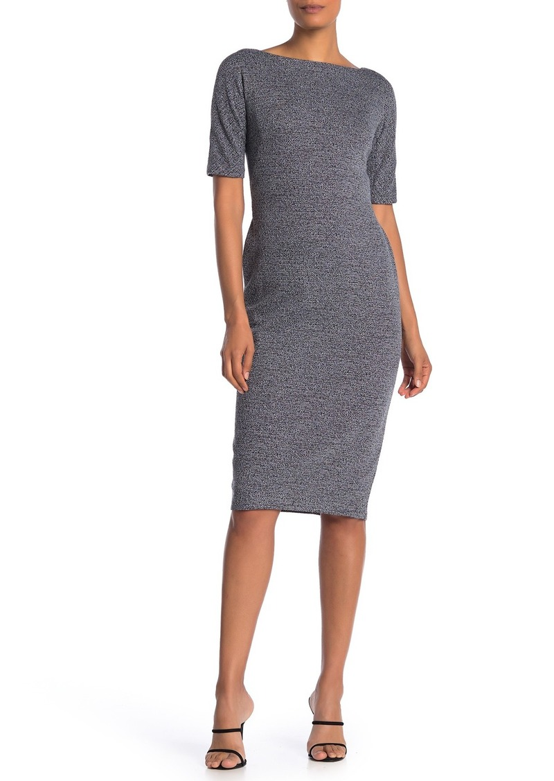 Maggy London Marled Bateau Neck Sheath Dress