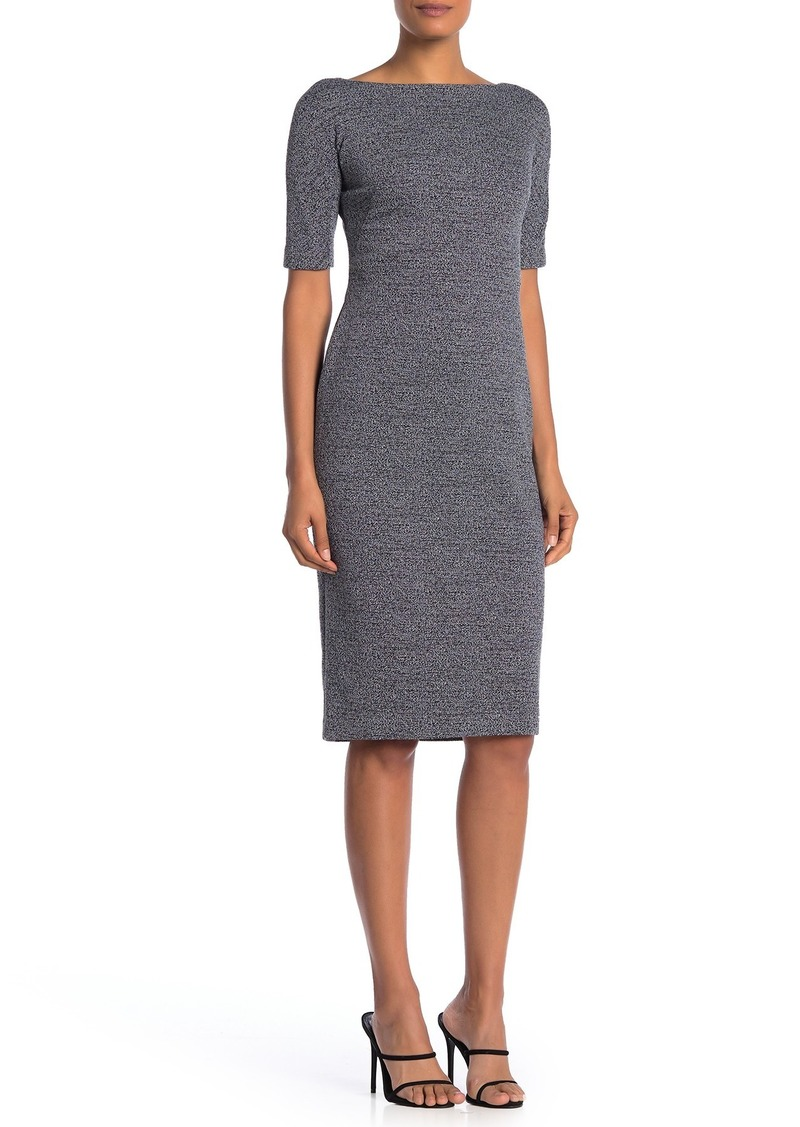 Maggy London Marled Short Sleeve Sheath Dress