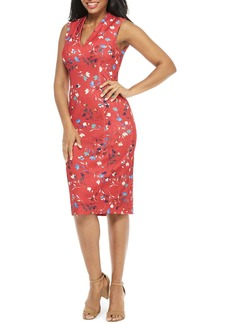 Maggy London Meredith Floral Print Sheath Dress