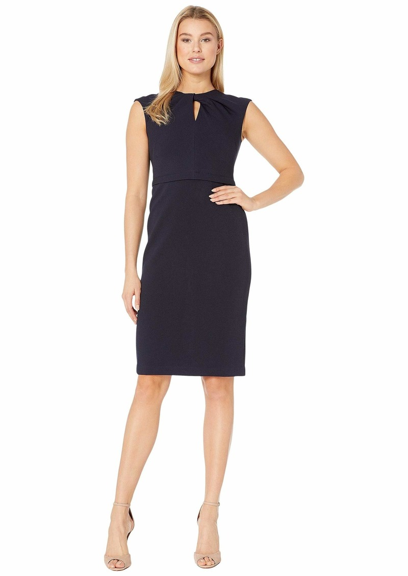 Maggy London Metro Knit Sheath Dress with Twist Neck