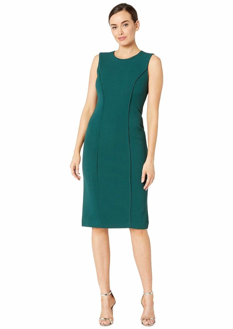 Maggy London Metro Knit Solid Sheath Dress