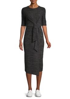 Maggy London Midi Mock-Wrap Dress