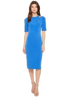 Maggy London Mini Bark Texture Split Shoulder Sheath Dress