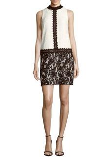 Maggy London Mockneck Lace Dress