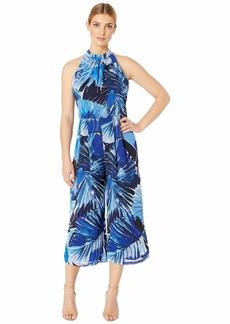Maggy London Moody Palm Printed Chiffon Jumpsuit