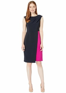 Maggy London Mystic Crepe Color Block Dress