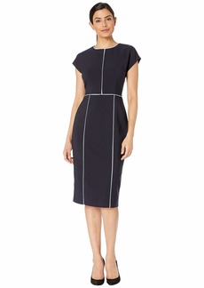 Maggy London Mystic Crepe Color Block Sheath Dress