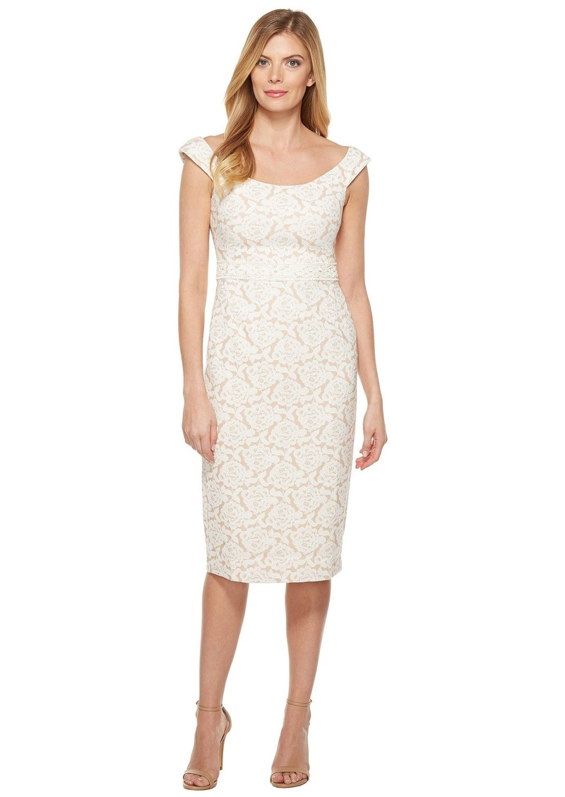 4913adf0 Maggy London Natural Bloom Jacquard Sheath Dress | Dresses