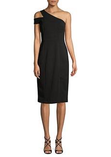 Maggy London One-Shoulder Crepe Dress