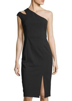 Maggy London One-Shoulder Crepe-Scuba Dress